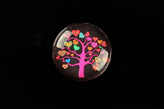"Cabochon sticla 25mm ""Tree of Life"" cod 807"