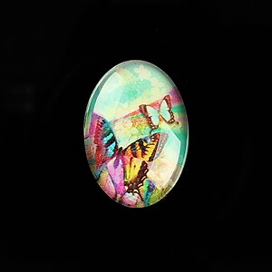 "Cabochon sticla 25x18mm ""Fantasy Butterfly"" cod 813"