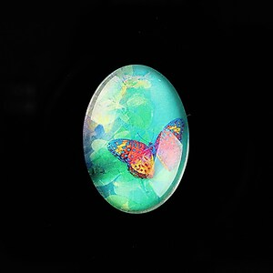 "Cabochon sticla 25x18mm ""Fantasy Butterfly"" cod 814"
