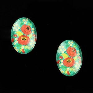 "Cabochon sticla 18x13mm ""Folk Art"" cod 824"
