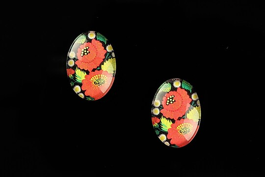 "Cabochon sticla 18x13mm ""Folk Art"" cod 825"