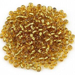 Margele de nisip cu foita 3mm (50g) - cod 446 - auriu