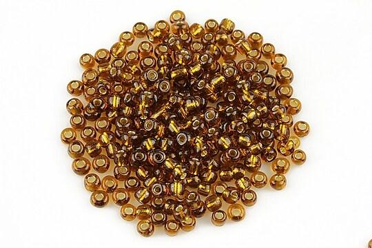 Margele de nisip cu foita 3mm (50g) - cod 447 - maro