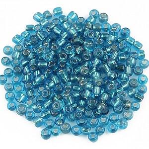 Margele de nisip cu foita 3mm (50g) - cod 450 - albastru