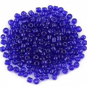 Margele de nisip transparente 3mm (50g) - cod 458 - albastru cobalt