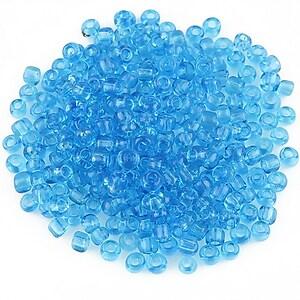 Margele de nisip transparente 3mm (50g) - cod 459 - albastru