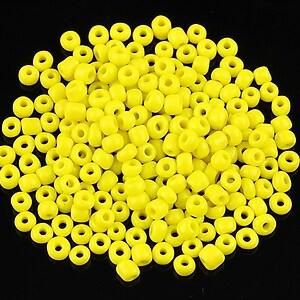 Margele de nisip opace 3mm (50g) - cod 461 - galben