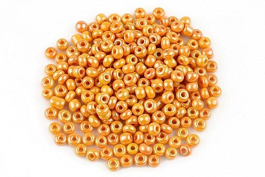 Margele de nisip lucioase 3mm (50g) - cod 477 - portocaliu