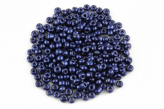 Margele de nisip lucioase 3mm (50g) - cod 481 - albastru inchis
