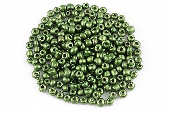 Margele de nisip lucioase 3mm (50g) - cod 482 - verde olive