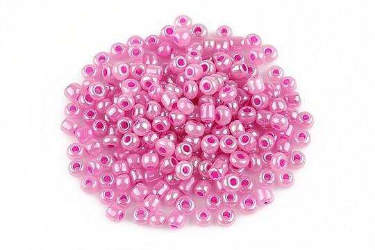 Margele de nisip perlate 3mm (50g) - cod 486 - roz