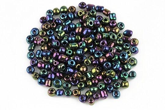 Margele de nisip lucioase 3mm (50g) - cod 489 - multicolor