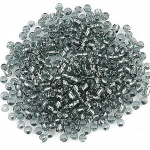 Margele de nisip 2mm cu foita (50g) - cod 491 - gri
