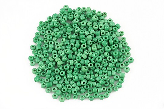 Margele de nisip 2mm opace (50g) - cod 493 - verde