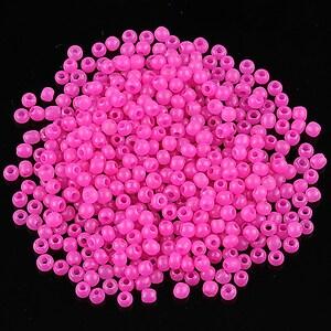 Margele de nisip 2mm opace (50g) - cod 497 - roz fucsia