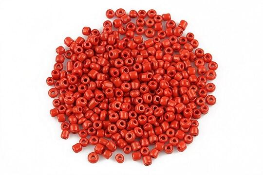 Margele de nisip 2mm lucioase (50g) - cod 502 - rosu inchis
