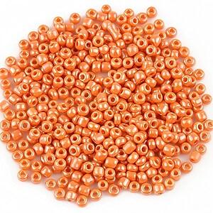 Margele de nisip 2mm lucioase (50g) - cod 506 - portocaliu