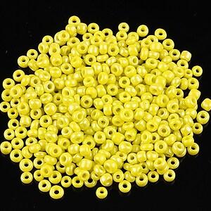 Margele de nisip 2mm lucioase (50g) - cod 508 - galben verzui