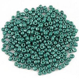 Margele de nisip 2mm lucioase (50g) - cod 509 - verde turcoaz inchis