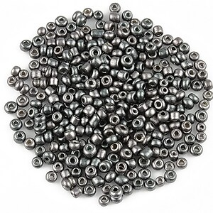 Margele de nisip 2mm frosted (50g) - cod 514 - gri inchis