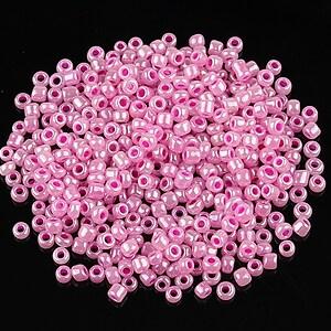 Margele de nisip 2mm perlate (50g) - cod 516 - roz