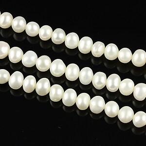 Sirag perle de cultura aprox. 5mm, albe