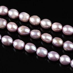 Sirag perle de cultura bob de orez aprox. 7x6mm, mov
