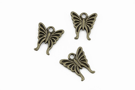 Charm bronz fluture 15x14mm