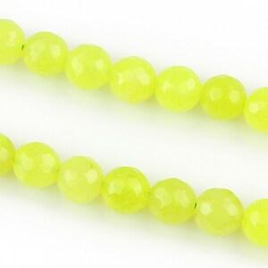Jad sfere fatetate 8mm - verde neon