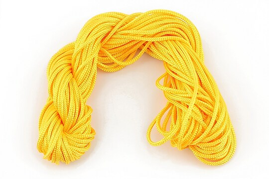 Ata nylon, grosime 2mm, 12m, portocaliu deschis