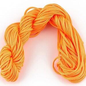 Ata nylon, grosime 2mm, 12m, portocaliu neon
