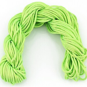 Ata nylon, grosime 2mm, 12m, verde deschis