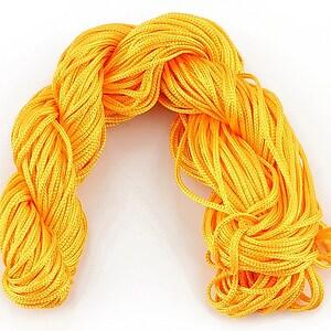 Ata nylon, grosime 1mm, 28m, portocaliu deschis