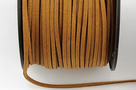 Snur suede (imitatie piele intoarsa) 3x1mm (1m) - maro aluna