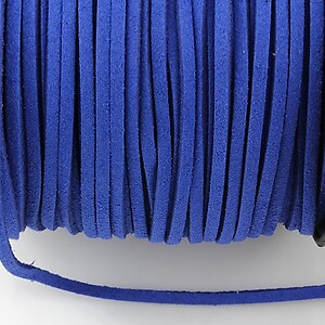 Snur suede (imitatie piele intoarsa) 3x1mm (1m) - albastru