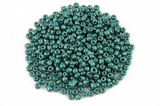 Margele de nisip 2mm cu efect frosted (50g) - cod 521 - turcoaz inchis