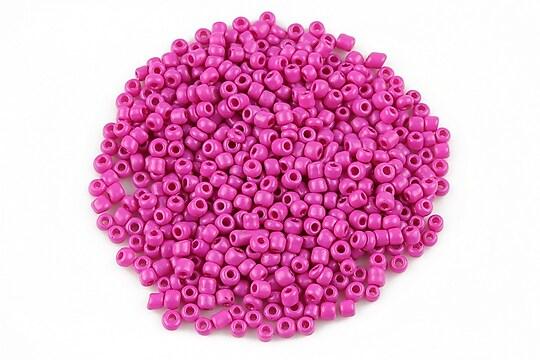 Margele de nisip 2mm opace (50g) - cod 523 - roz bonbon