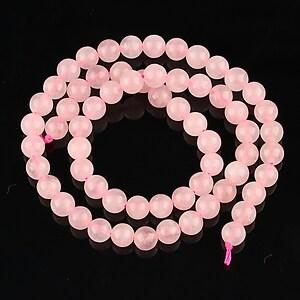Sirag cuart roz sfere 6mm