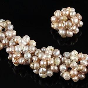 Bulgarasi 14mm formati din perle de cultura ivorii 3mm