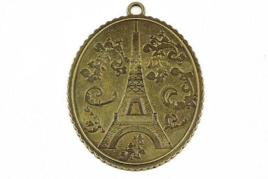 """Pandantiv bronz """"Le Tour Eiffel"""" 55x40mm"""