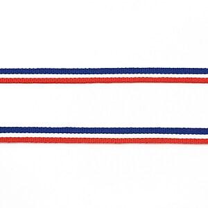 Panglica tricolor material textil, latime 0,5cm (1m) - rosu, alb si albastru