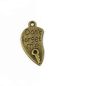 Charm bronz Dont forget me 26x12mm