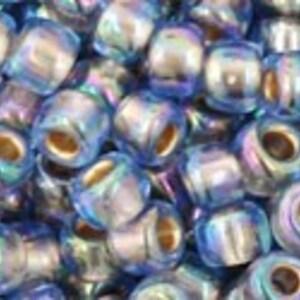 Margele Toho rotunde 6/0 - Gold-Lined Rainbow Lt Sapphire