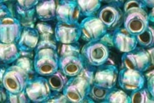 Margele Toho rotunde 6/0 - Gold-Lined Rainbow Aqua