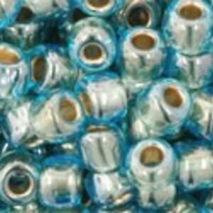Margele Toho rotunde 6/0 - Gold-Lined Aqua