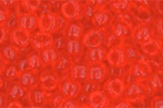 Margele Toho rotunde 8/0 - Transparent Lt Siam Ruby