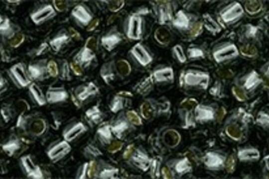 Margele Toho rotunde 8/0 - Silver-Lined Black Diamond