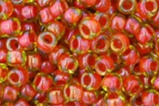 Margele Toho rotunde 8/0 - Inside-Color Jonquil/Hyacinth Lined
