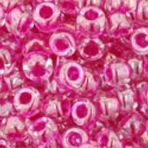 Margele Toho rotunde 8/0 - Inside-Color Crystal/Fuschia Lined