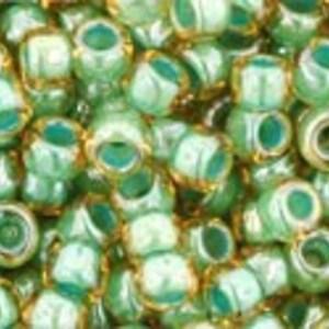 Margele Toho rotunde 8/0 - Inside-Color Black Diamond/Orange Cream Lined